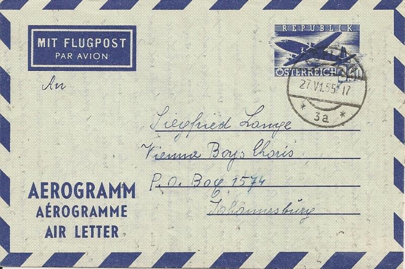 Flugpostfaltbriefe (Aerogramme) Aerogr35