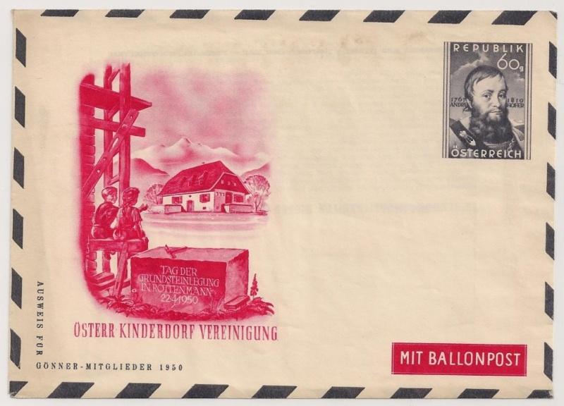 Die Privatganzsachen der österreichischen Ballonpost Ballon10