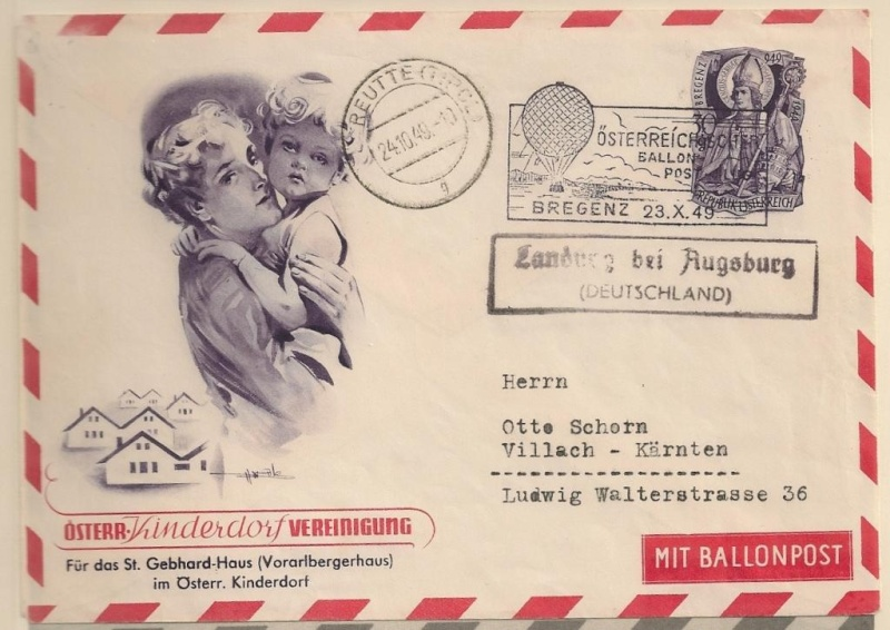 Die Privatganzsachen der österreichischen Ballonpost Ballon11