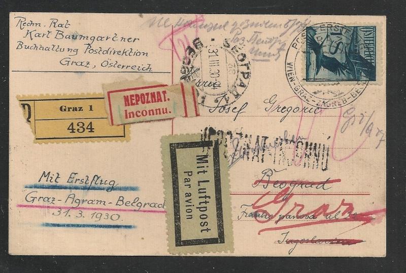 rwh's Luftpostsammlung Österreich erste Republik - Seite 2 Graz_b10