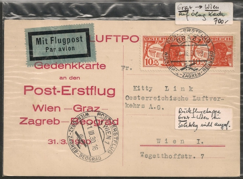 rwh's Luftpostsammlung Österreich erste Republik - Seite 2 Graz_w10