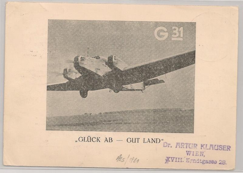 rwh's Luftpostsammlung Österreich erste Republik Klagen12