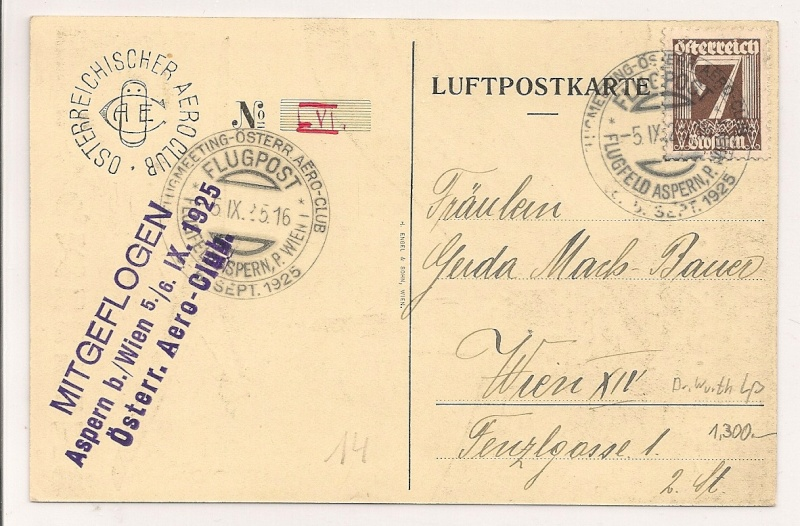 rwh's Luftpostsammlung Österreich erste Republik Scanne24