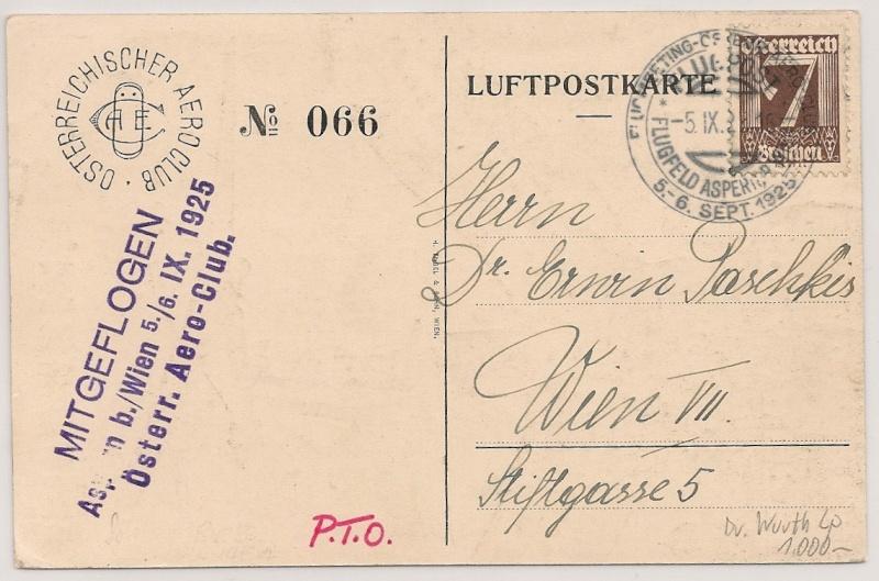 rwh's Luftpostsammlung Österreich erste Republik Scanne25