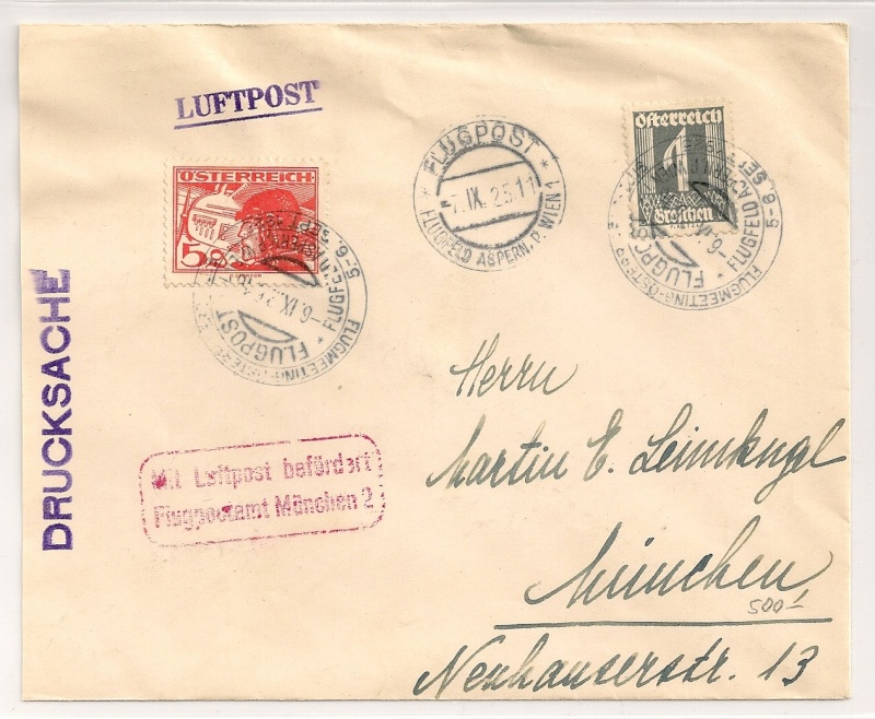 rwh's Luftpostsammlung Österreich erste Republik Scanne26