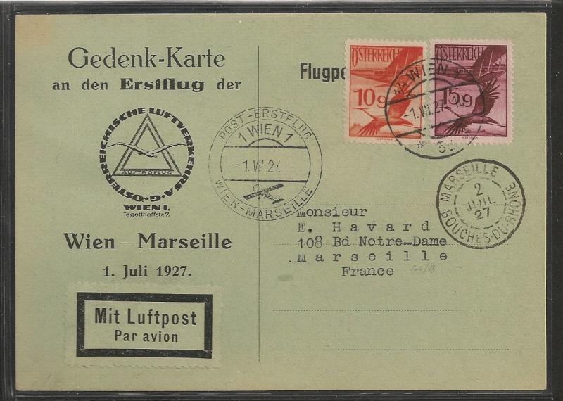 rwh's Luftpostsammlung Österreich erste Republik Scanne29