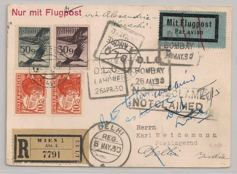 rwh's Luftpostsammlung Österreich erste Republik Wien-d10