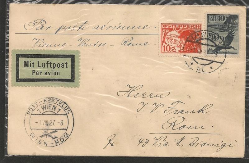 rwh's Luftpostsammlung Österreich erste Republik Wien-r10