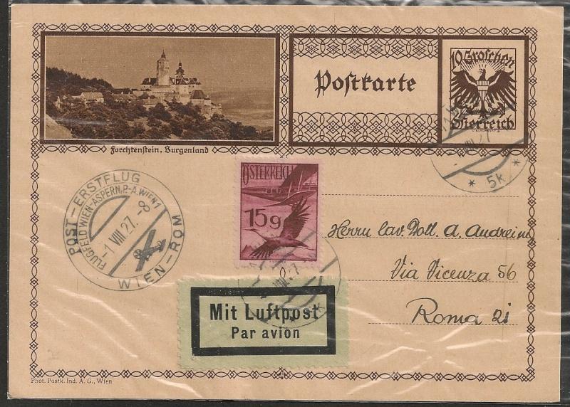 rwh's Luftpostsammlung Österreich erste Republik Wien-r11