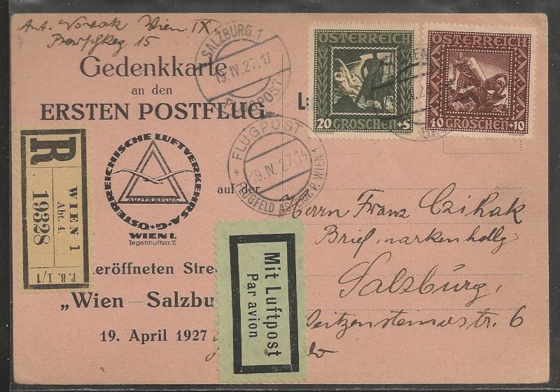 rwh's Luftpostsammlung Österreich erste Republik Wien-s10