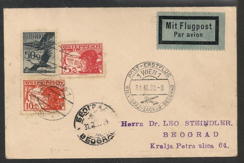 rwh's Luftpostsammlung Österreich erste Republik - Seite 2 Wien_b11