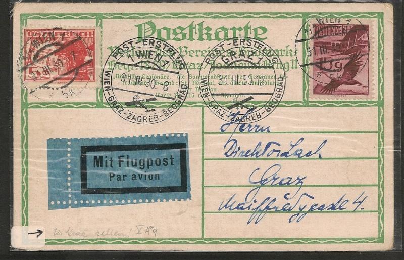 rwh's Luftpostsammlung Österreich erste Republik Wien_g10