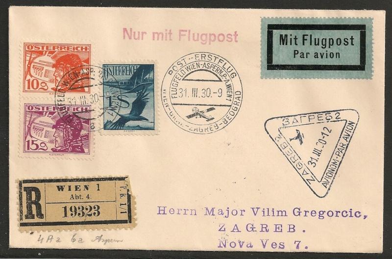 rwh's Luftpostsammlung Österreich erste Republik Wien_z11