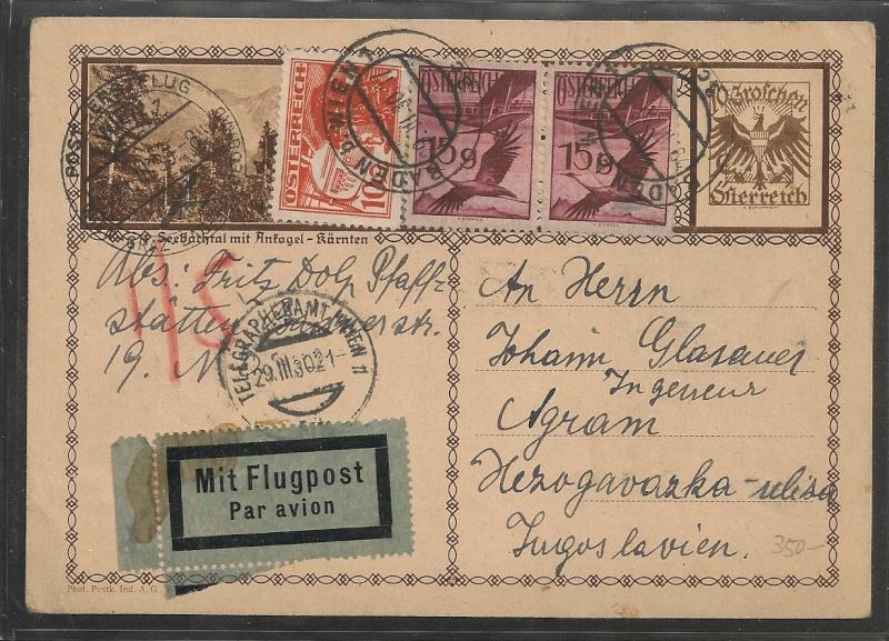 rwh's Luftpostsammlung Österreich erste Republik Wien_z12