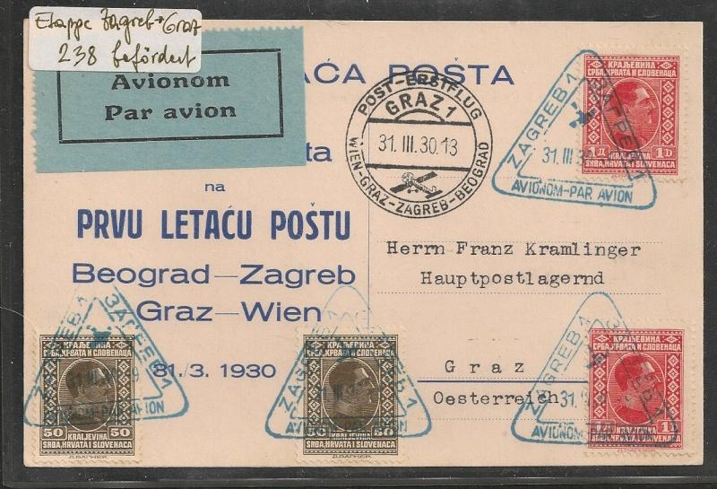 rwh's Luftpostsammlung Österreich erste Republik - Seite 2 Zagreb10