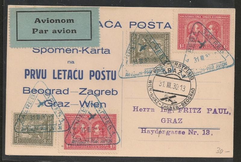 rwh's Luftpostsammlung Österreich erste Republik - Seite 2 Zagreb11
