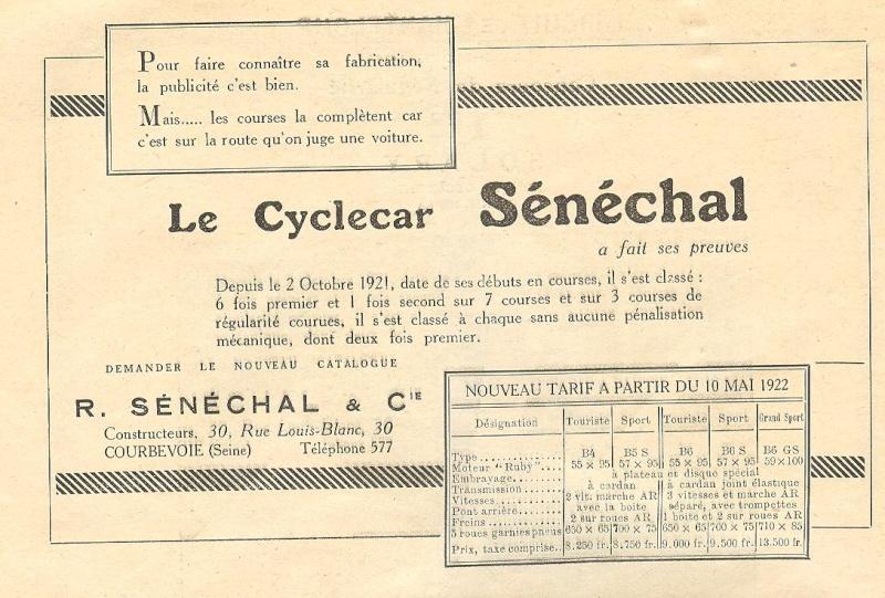 Senechal cyclecar - Page 3 Senech11