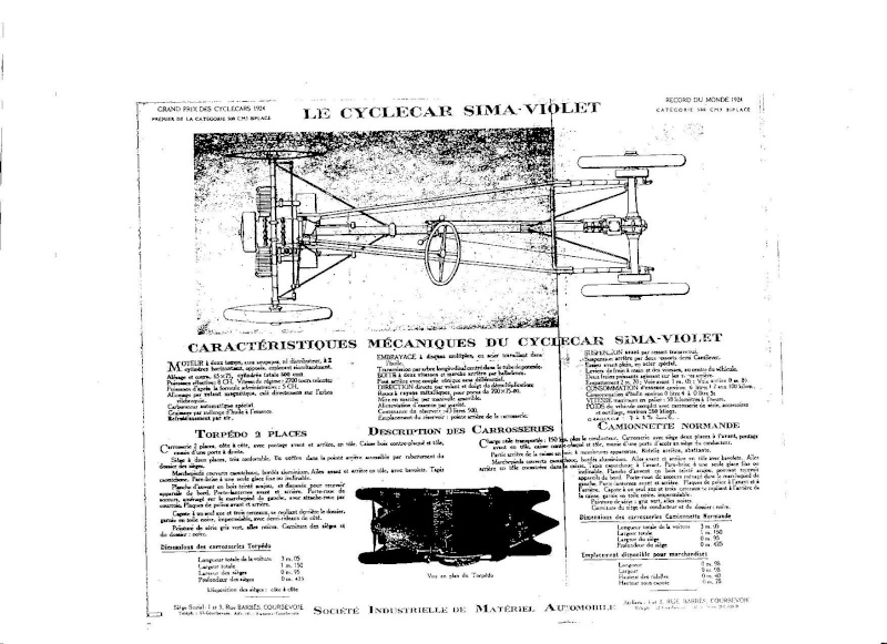 SIMA VIOLET cyclecar Sima10