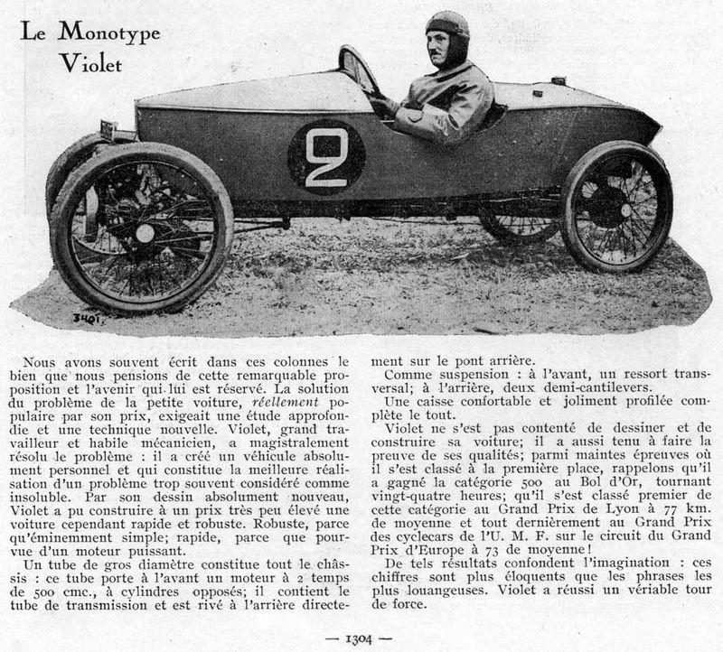 SIMA VIOLET cyclecar - Page 2 Violet10