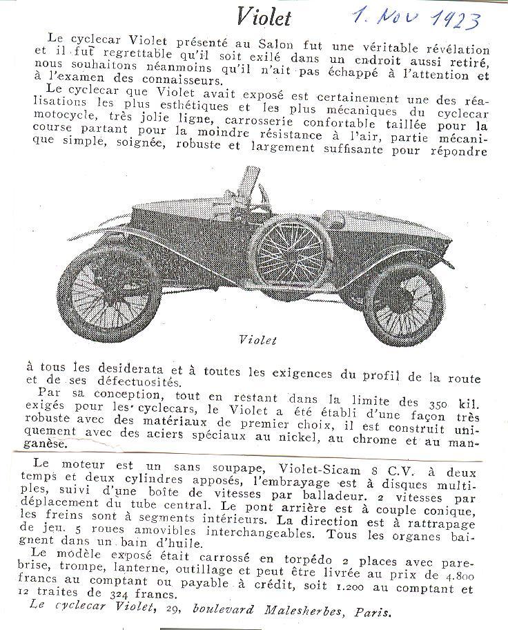 SIMA VIOLET cyclecar - Page 2 Violet12