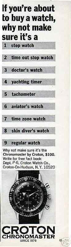 Le chronographe Croton Chronomaster Aviator Sea-diver : la montre à tout faire des années 60-70 4578_310
