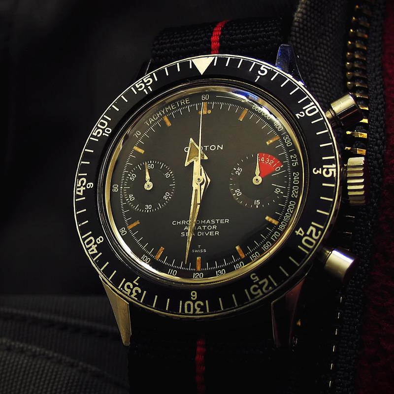 Le chronographe Croton Chronomaster Aviator Sea-diver : la montre à tout faire des années 60-70 Croton10