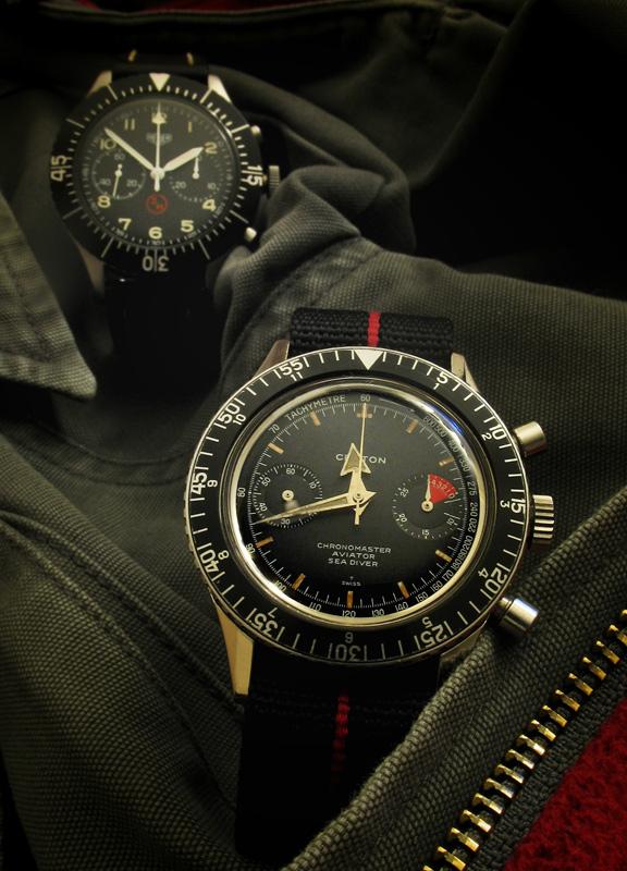 Le chronographe Croton Chronomaster Aviator Sea-diver : la montre à tout faire des années 60-70 Croton11