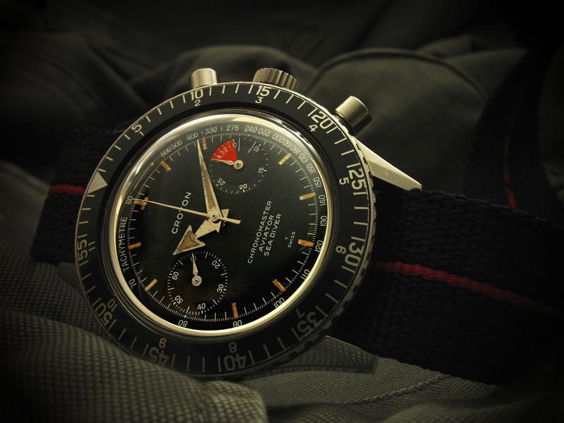 Le chronographe Croton Chronomaster Aviator Sea-diver : la montre à tout faire des années 60-70 Croton12