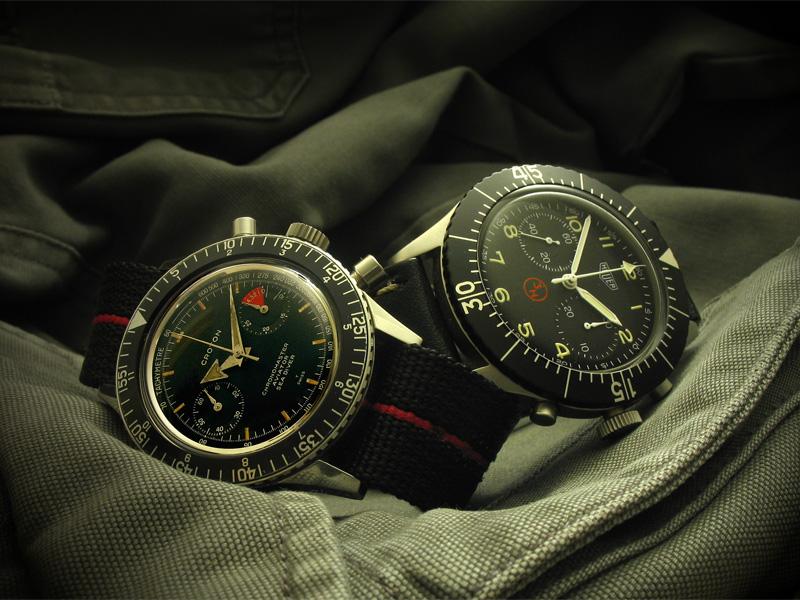 Le chronographe Croton Chronomaster Aviator Sea-diver : la montre à tout faire des années 60-70 Croton13