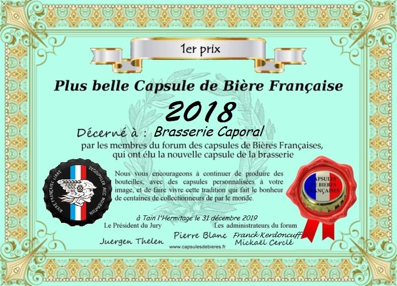 Remise du premier prix à brasserie Caporal 2020 (pour 2018) Diplzm11