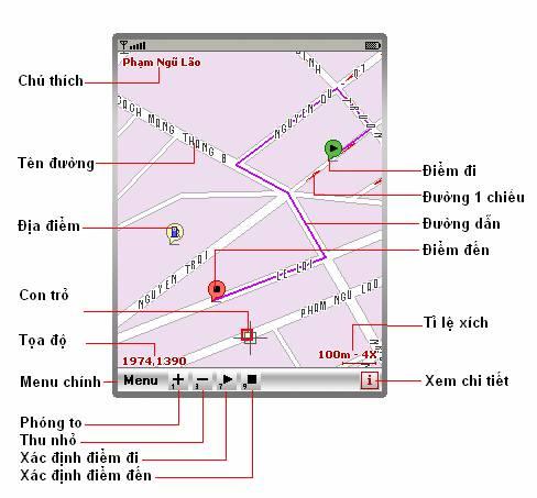 Bản đồ điện tử trên điện thoại di động Clipim10