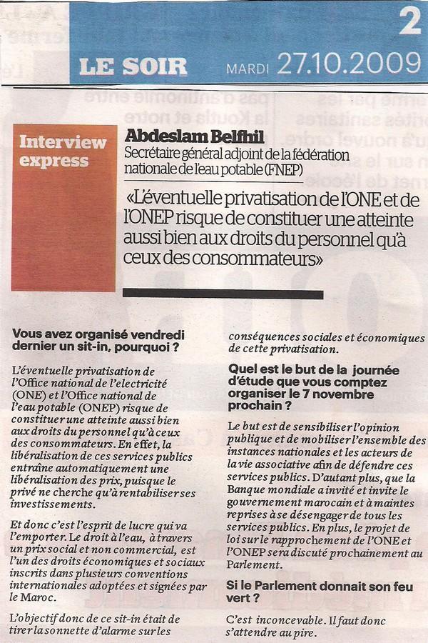 Interview FNEP: Il faut s'attendre au pire Lesoir11