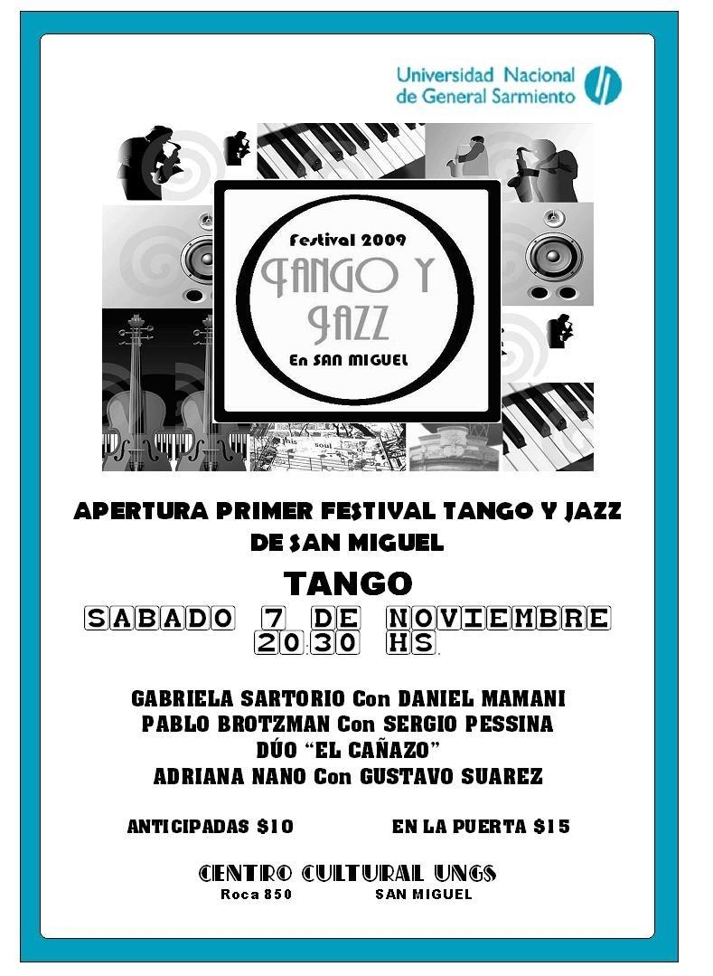 MALVINAS ARGENTINAS: TANGO Y JAZ EN LA UNGS: Afiche10