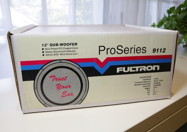"""Fultron ProSeries 9112 12"""" subwoofer (New) _mg_2620"""