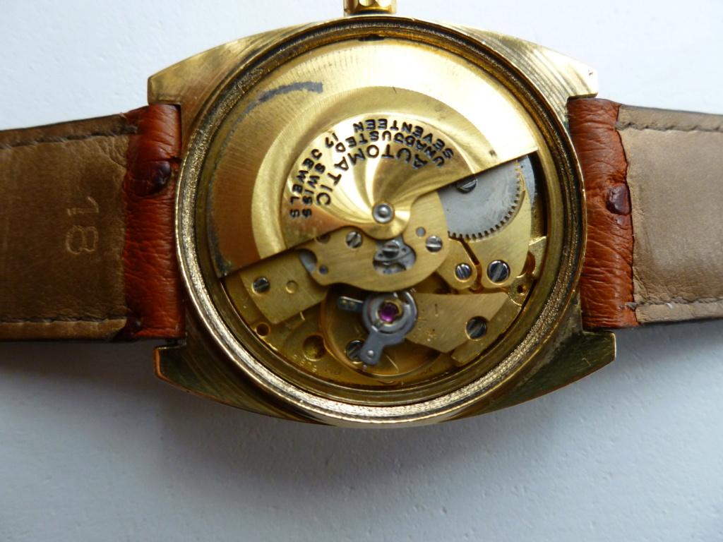 Présentation Lip à remontage automatique, mouvement utilisé également par des grandes marques de l'horlogerie Suisse Echang21