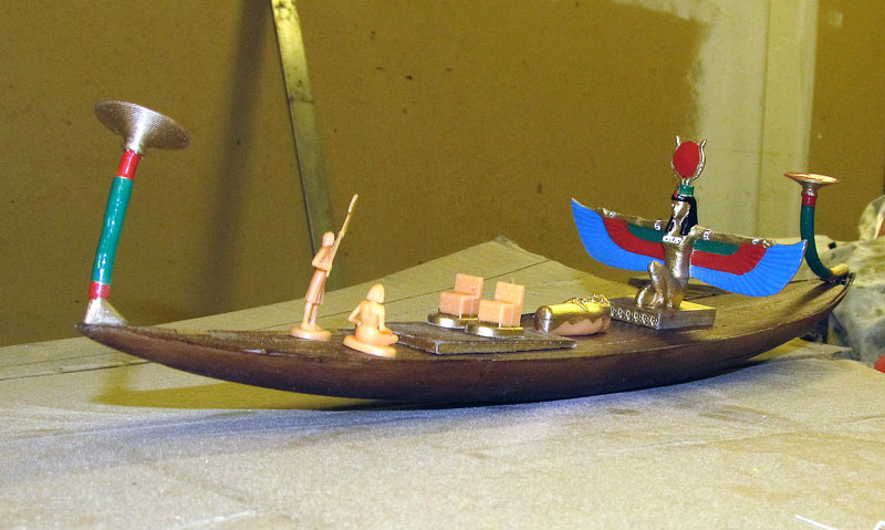Barque pharaonique - 1/72 - Scratch et impression 3d 2018-125