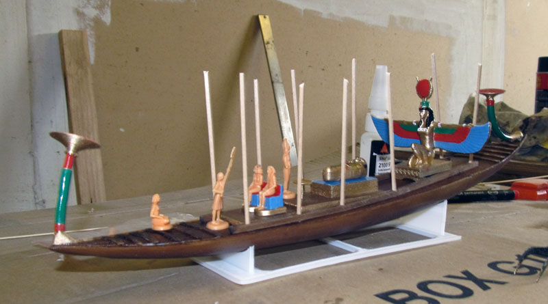 Barque pharaonique - 1/72 - Scratch et impression 3d 2018-135