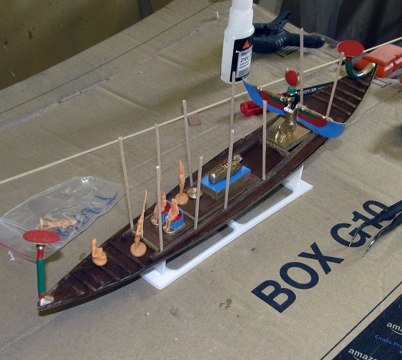 Barque pharaonique - 1/72 - Scratch et impression 3d 2018-139