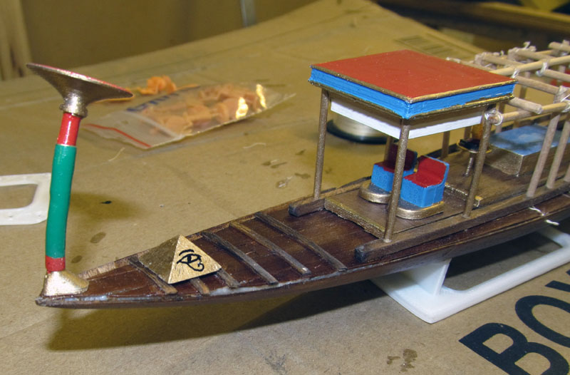Barque pharaonique - 1/72 - Scratch et impression 3d 2018-145