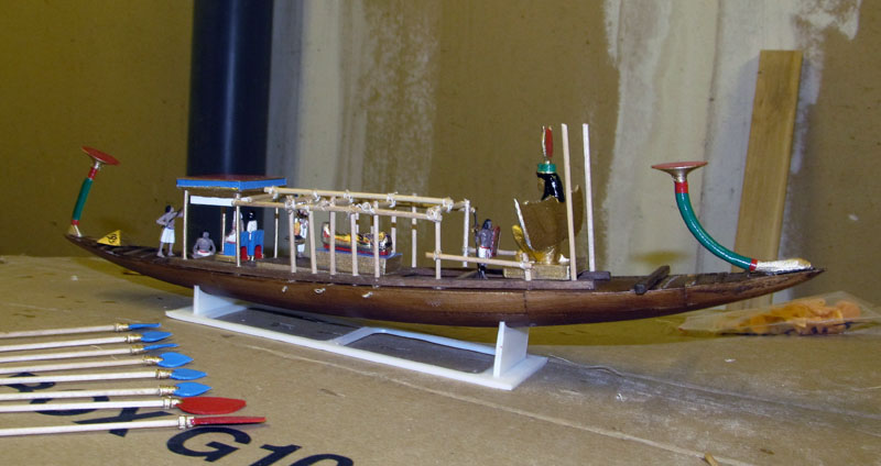 Barque pharaonique - 1/72 - Scratch et impression 3d 2018-150