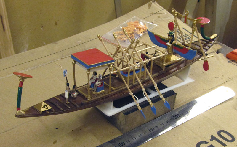 Barque pharaonique - 1/72 - Scratch et impression 3d 2018-157