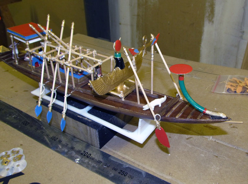 Barque pharaonique - 1/72 - Scratch et impression 3d 2018-161
