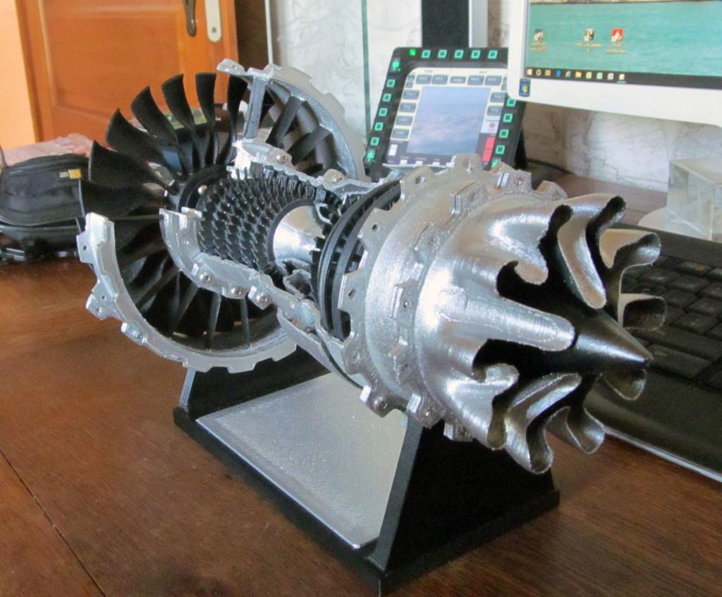 Turboréacteur - Echelle 1/20 - Impression 3d Rzoact20