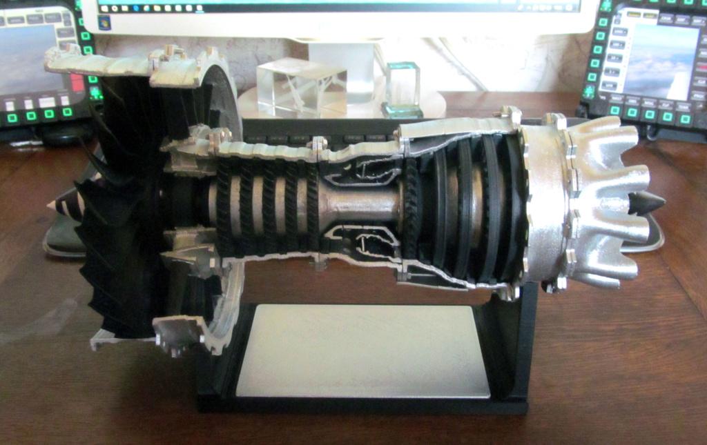 Turboréacteur - Echelle 1/20 - Impression 3d Rzoact21