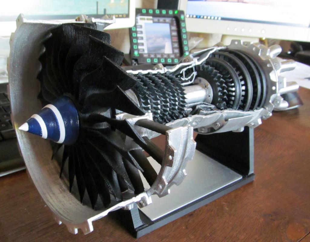 Turboréacteur - Echelle 1/20 - Impression 3d Rzoact22