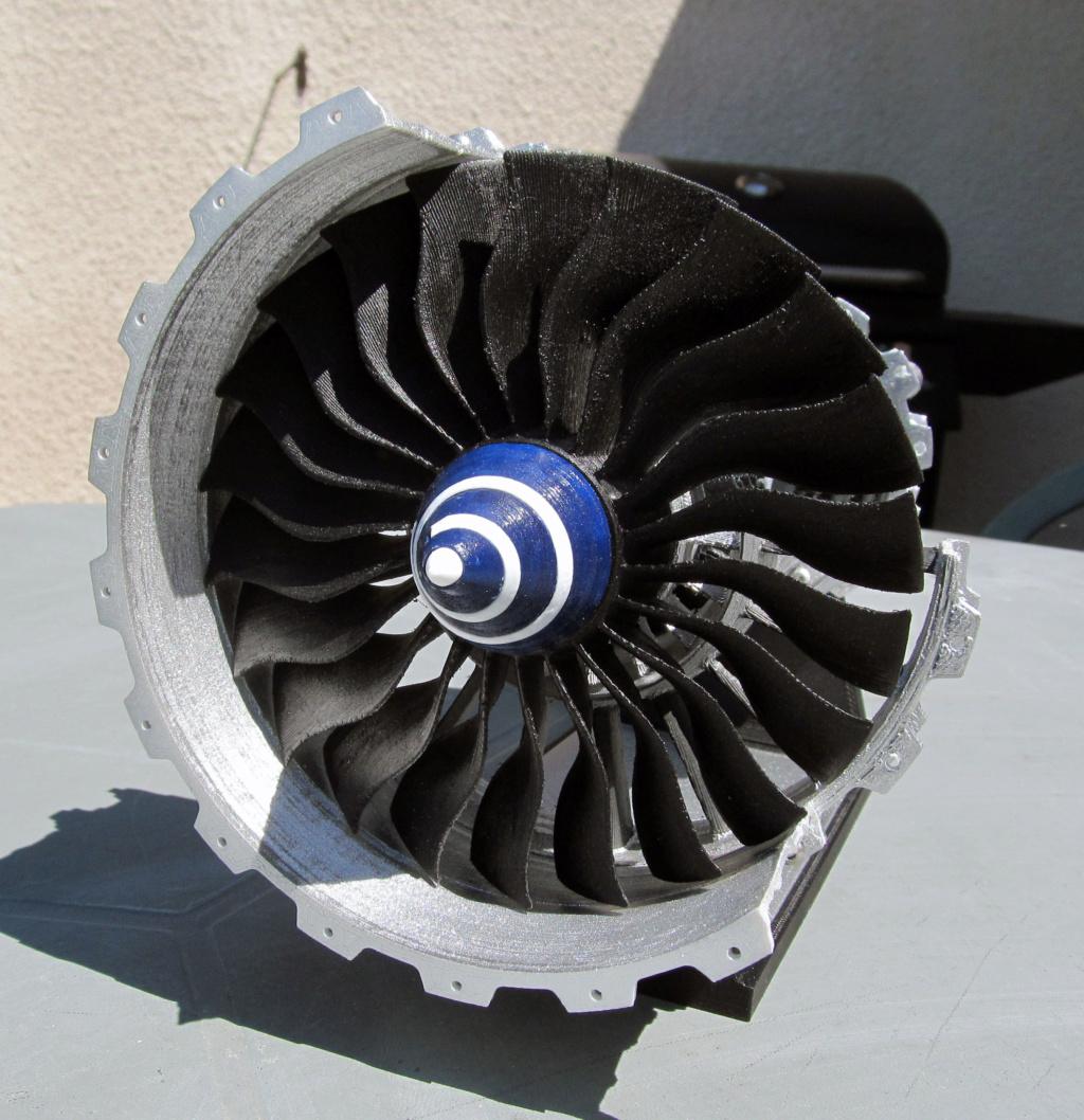Turboréacteur - Echelle 1/20 - Impression 3d Rzoact26