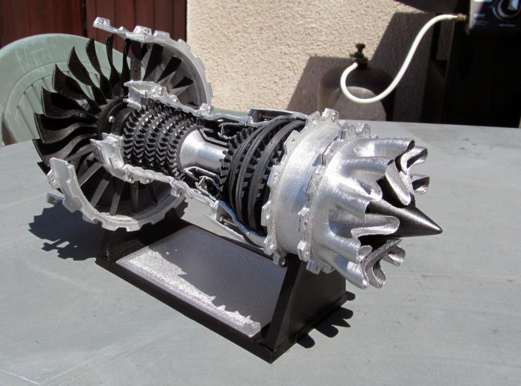 Turboréacteur - Echelle 1/20 - Impression 3d Rzoact27