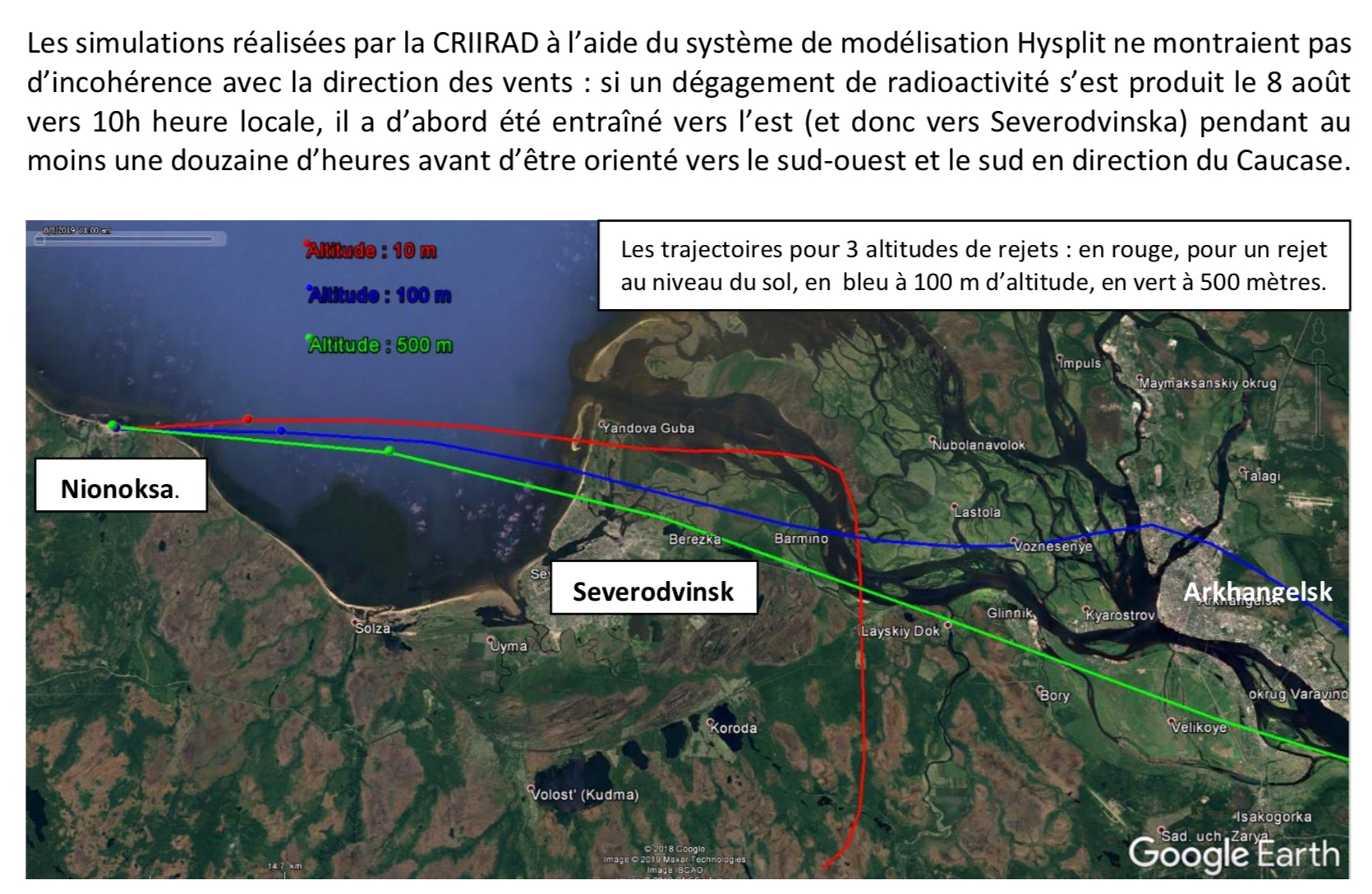 Accident à Severodvinsk : Essai de missile russe et contamination radioactive Captu209