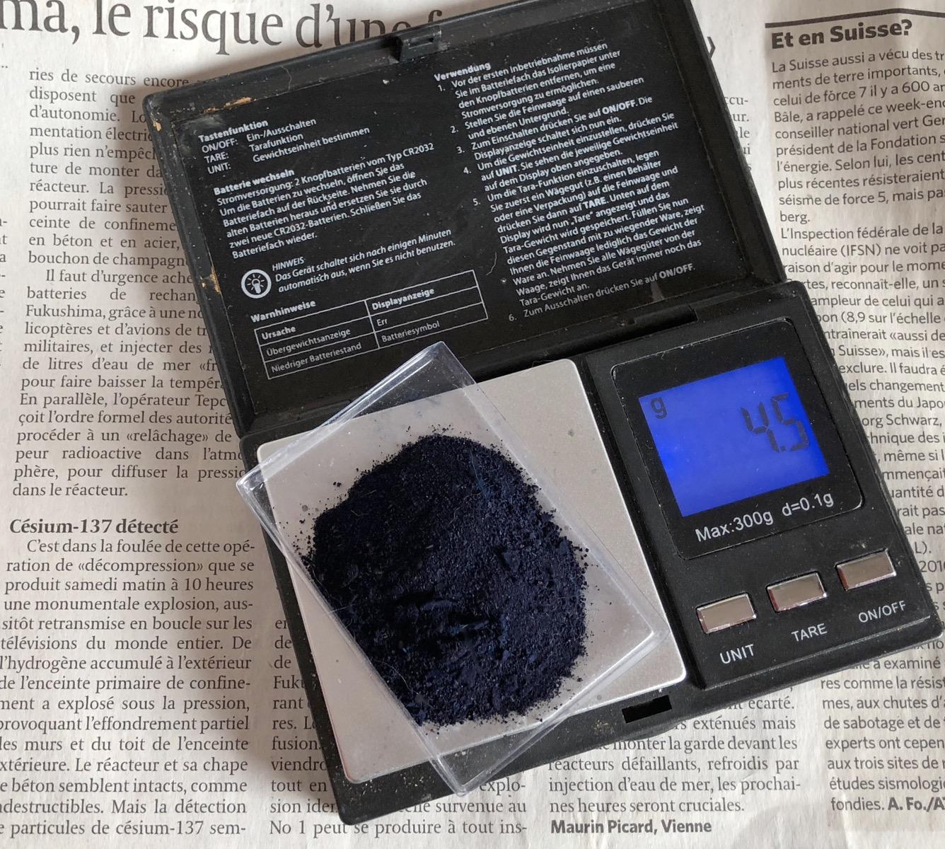 [Stock + Fabrication] Bleu de Prusse (risque nucléaire) Césium et comprimés - Page 2 Captu246
