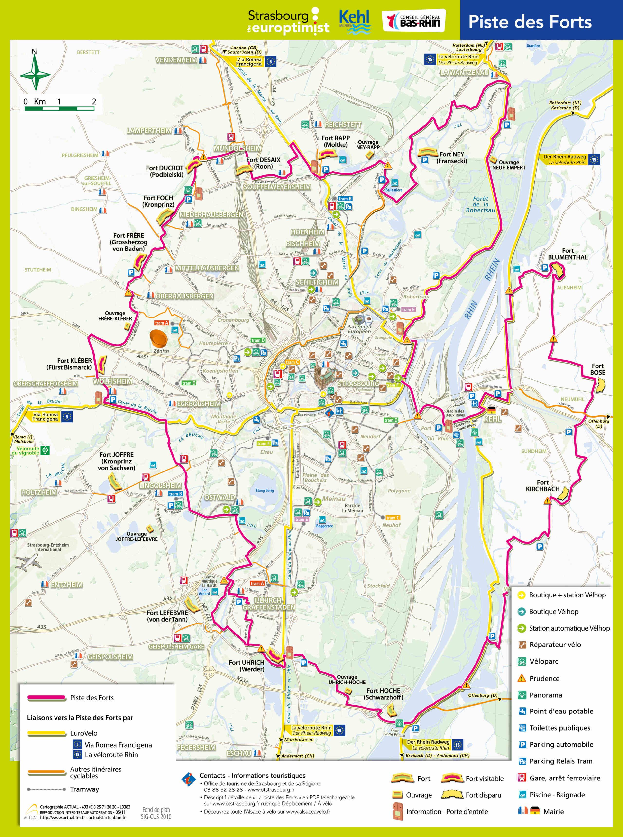 85km à Vélo : La Piste des Forts à Strasbourg Piste-10